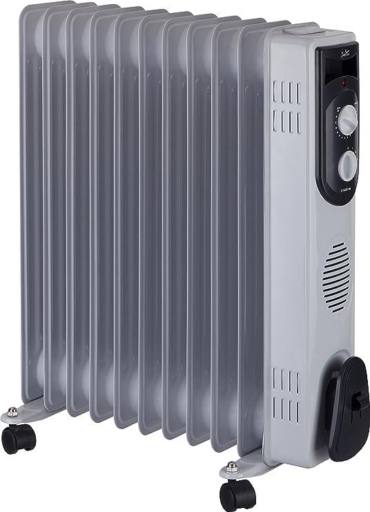 Jata R111 Radiador de aceite con 11 elementos caloríficos, 2500 W, Acero Inoxidable, Blanco: Amazon.es: Hogar