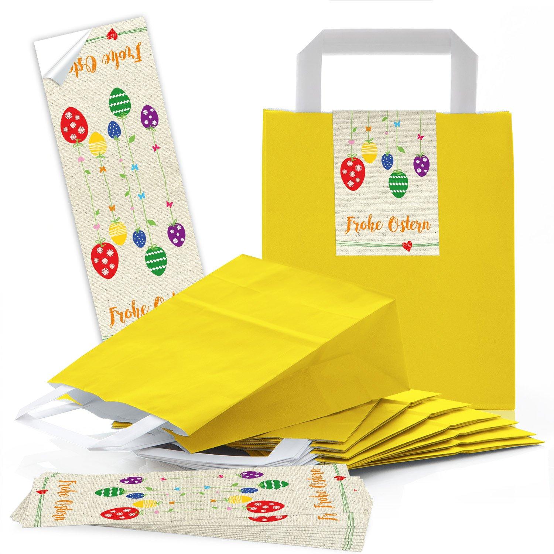 Faszinierend Osto Holz Das Beste Von 50 Gelbe Papiertüten Papier-tragetaschen Henkel-tüten Geschenktüten 18