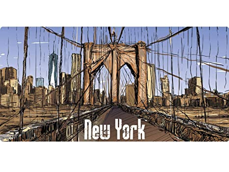 Matricula Decorativa 30,00 cm x 15,00 cm New York Puente | Decoración