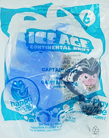 Amazon Com Mcdonalds Happy Meal Ice Age Continental Drift Captain Gutt 6 Toys Games