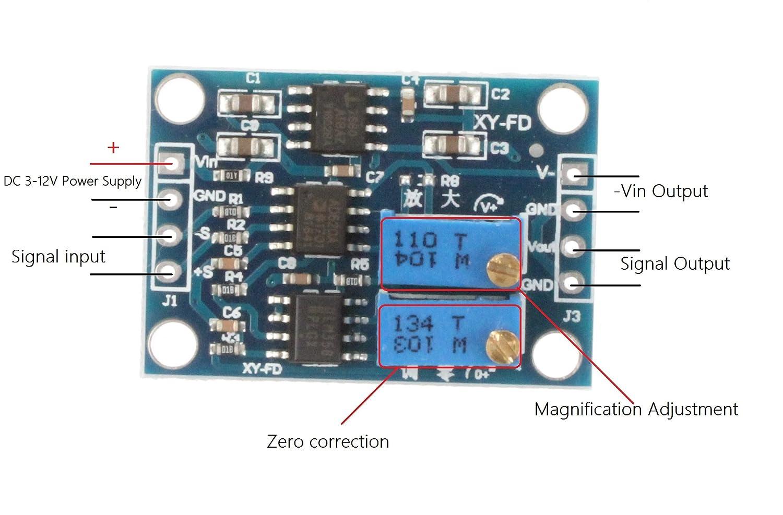 Lm358 100 Gain Signal Amplification Module Operational Amplifier Dc5