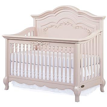 Amazon Com Evolur Aurora 5 In 1 Convertible Crib Blush Pink Pearl
