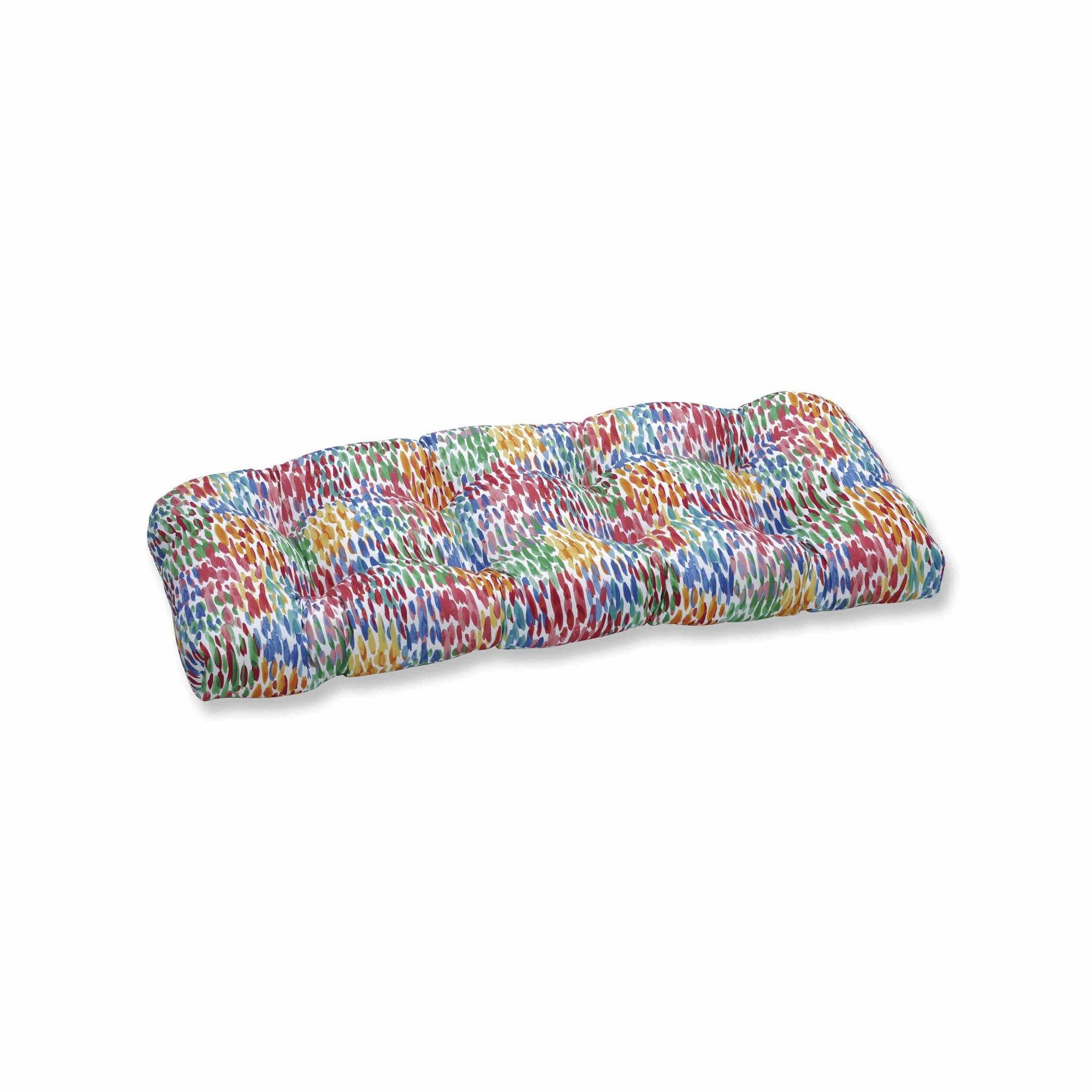 OKSLO Make it rain zinnia wicker loveseat cushion