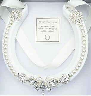 Lucky Real HorseShoe Bridal Wedding Gift WHITE