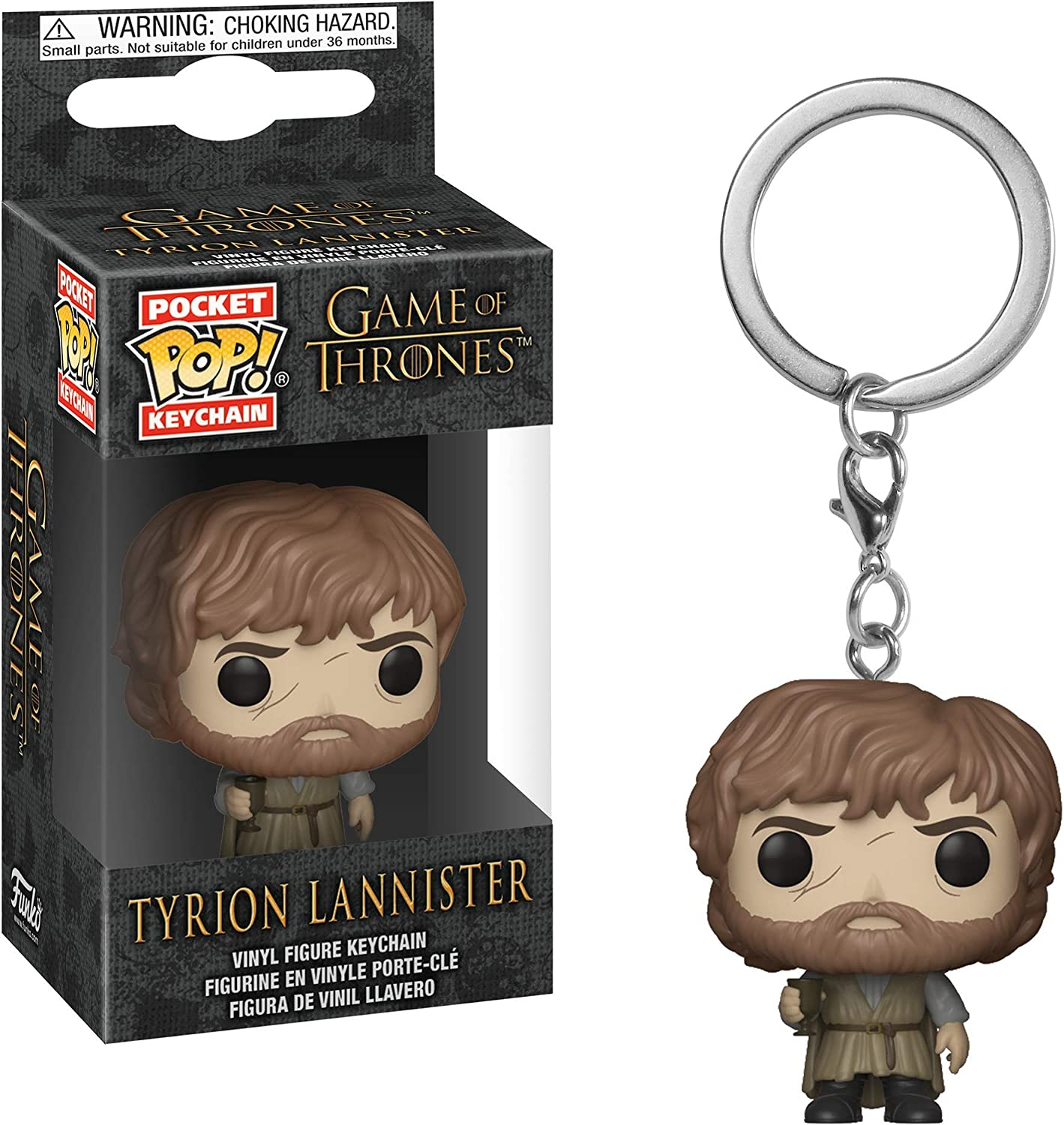 Game of Thrones Tyrion Lannister Collectible Figure Multicolor Funko Pop Keychain
