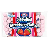 Jet-Puffed Strawberry Marshmallows (8 oz Bags, Pack of 16)
