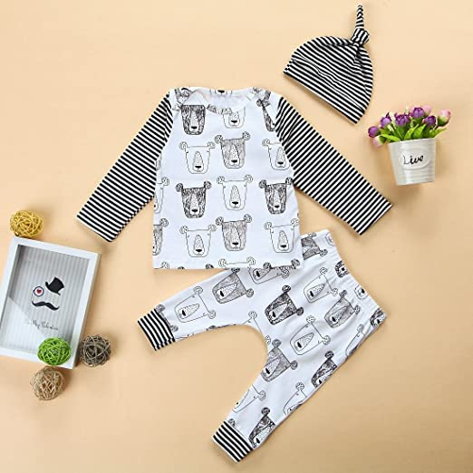 Dookingup Newborn Infant Baby Boys T-Shirt King Letter Printed Top Camouflage Short Pant Short Outfits