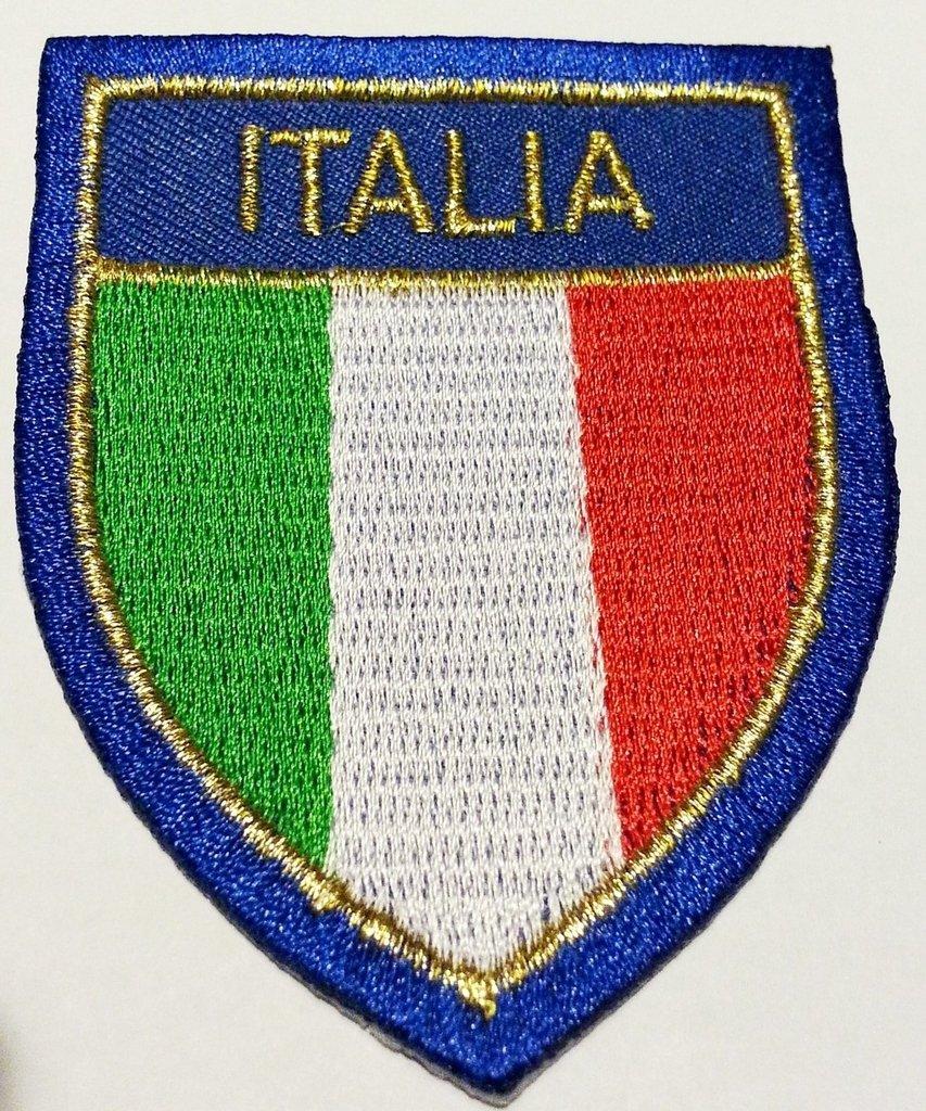 Toppe bandiera Italiana Toppa adesiva Toppa stoffa 7 x 6 cm B2see