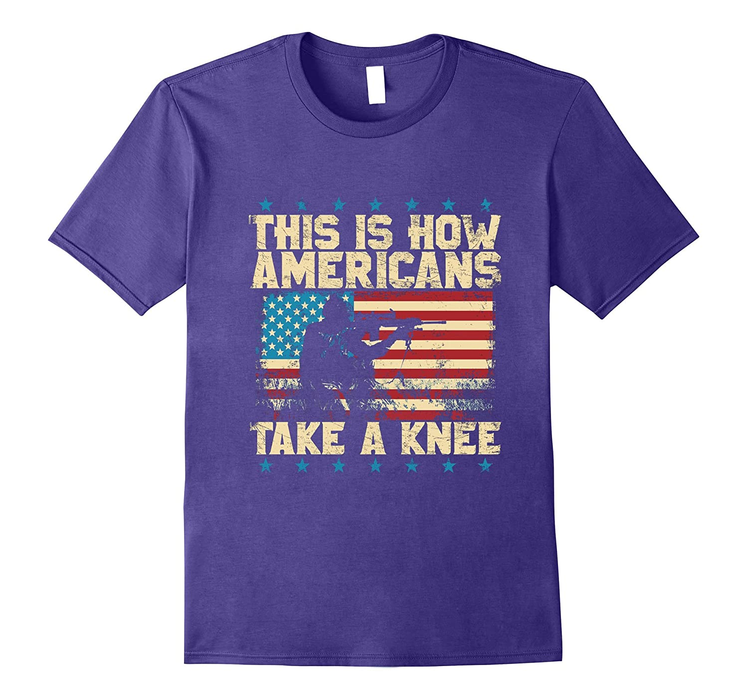 This Is How Americans Veteran Take A Knee Flag T-shirt-FL