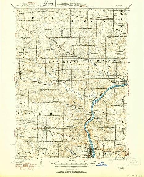 Amazon Com Yellowmaps Oregon Il Topo Map 1 62500 Scale 15 X 15