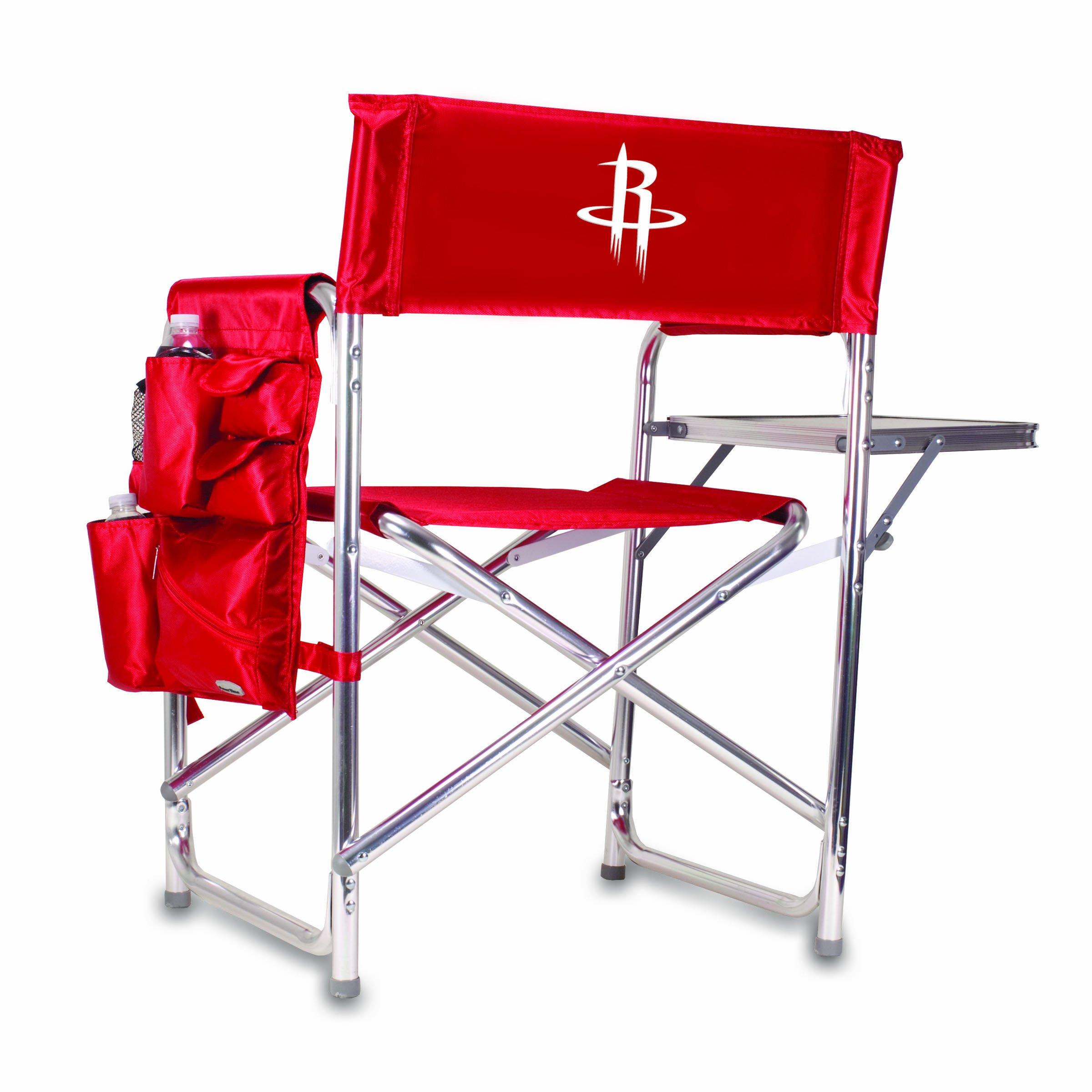 PICNIC TIME NBA Houston Rockets Portable Folding Sports Chair, Red
