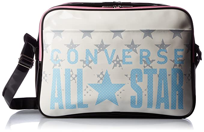 3d8bca3c85  Converse  shoulder bag enamel shoulder L size C1600052 (White   Sky blue)