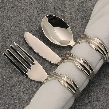macosa Home – Juego de 6 puede servilleteros Cubiertos (Tenedor, cuchillo y cuchara)