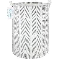 LANGYASHAN Storage Bin,Canvas Fabric Collapsible Organizer Basket for Laundry Hamper,Toy Bins,Gift Baskets, Bedroom…