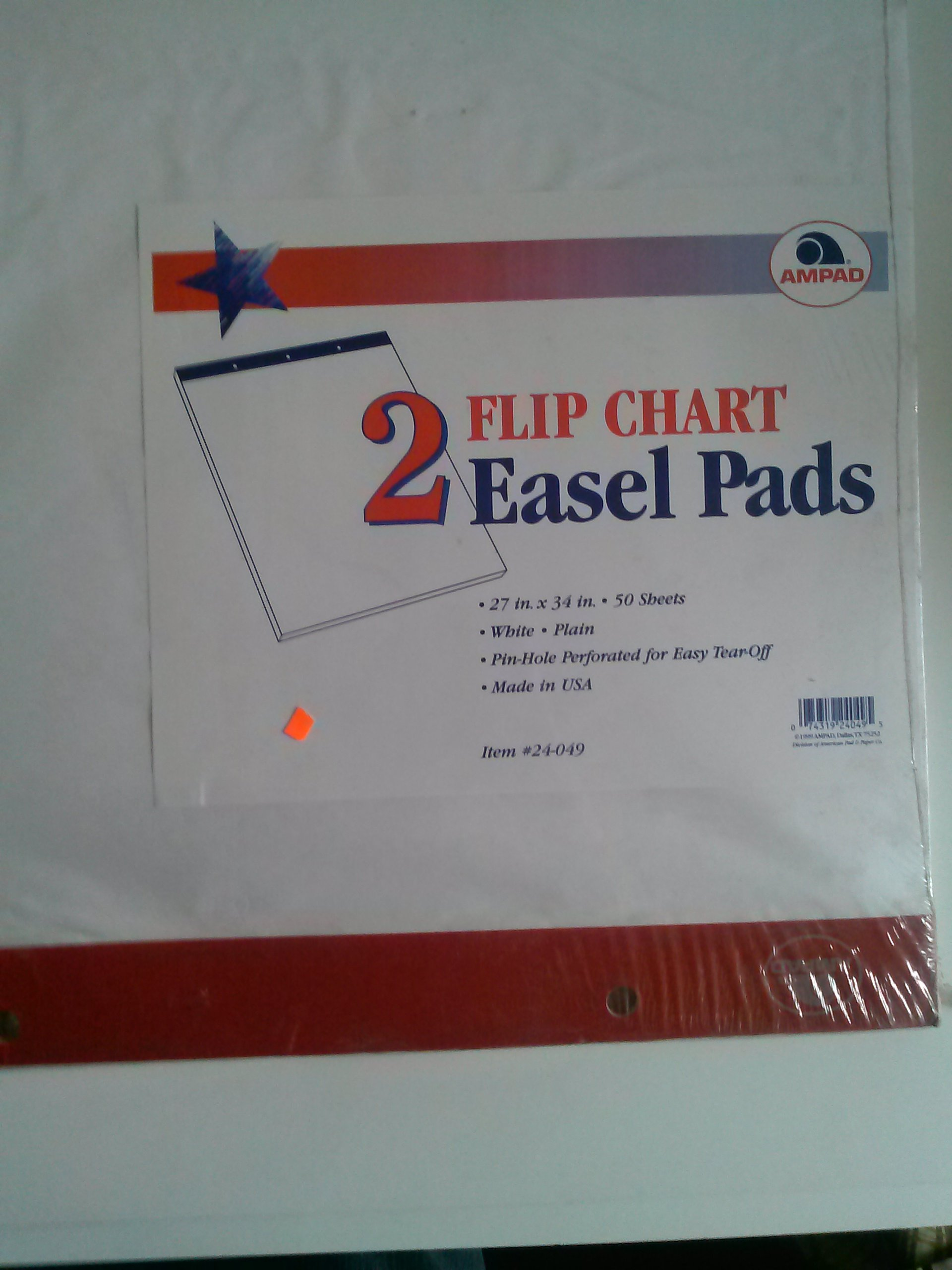 Ampad 24-049 Flip Chart 27'' x 34'' 2 Easel Pads Made in USA