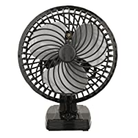 VARSHINE Happy Home Cutie Air Wall Cum Table Fan with 3 Speed Motor(Black, 9-inch) A-02