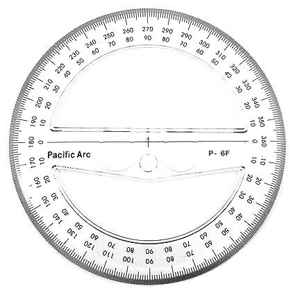 photo regarding Printable Protractor 360 named : 360 Amount Round Protractor