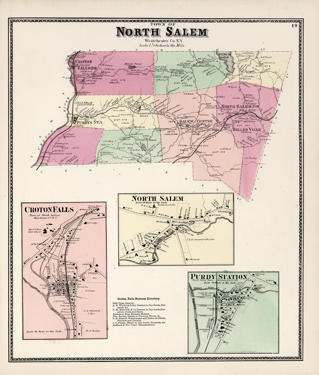Salem New York Map.Amazon Com Map Poster Town Of North Salem Westchester County