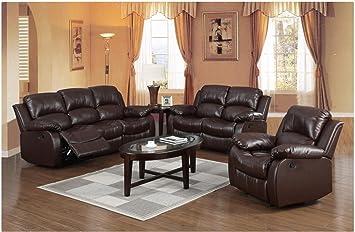 Sensational Premium Top Quality Leather Reclining Family Sofa Love Seat Theyellowbook Wood Chair Design Ideas Theyellowbookinfo