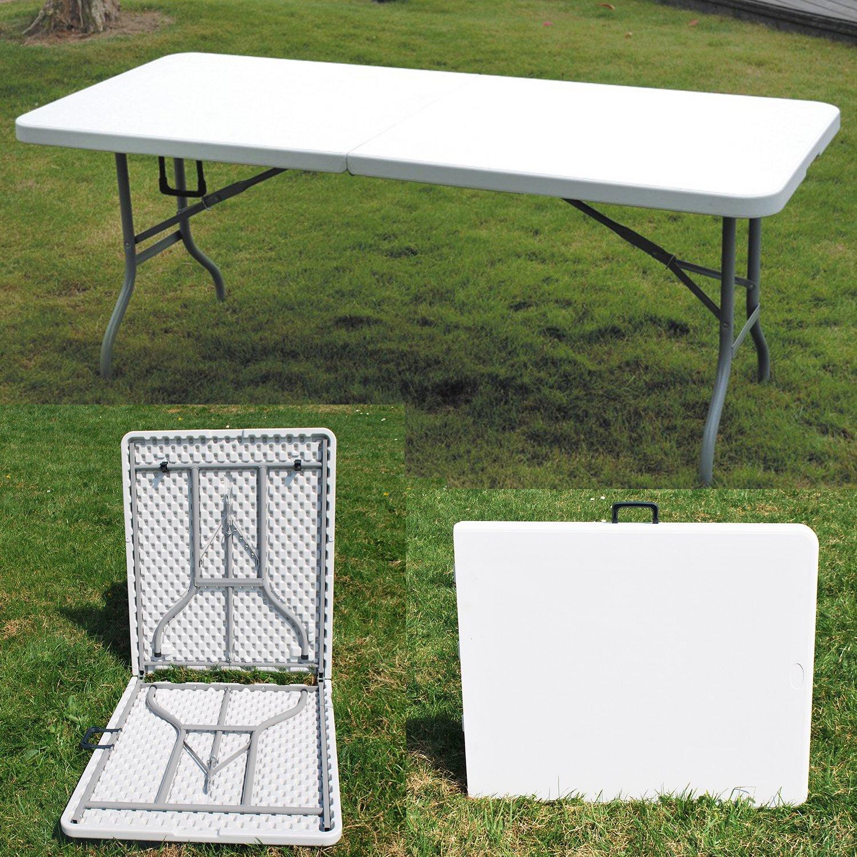 180m Heavy Duty Folding Trestle Table Garden Stall Camping Picnic