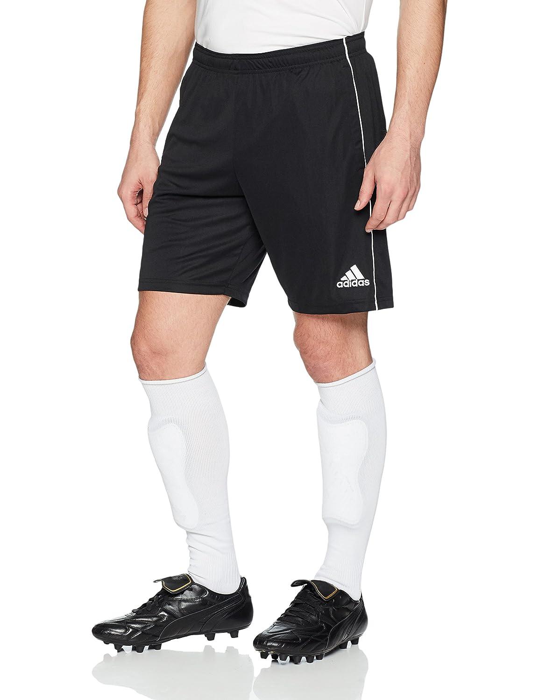 Adidasメンズサッカーcore18トレーニングショーツ B071GX81GN Large|ブラック/ホワイト ブラック/ホワイト Large