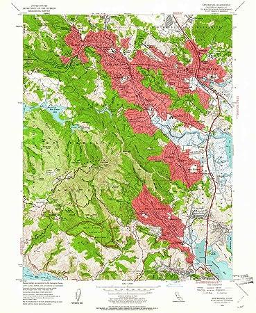 Amazon Com Yellowmaps San Rafael Ca Topo Map 1 24000 Scale 7 5 X