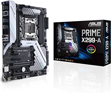 ASUS LGA2066 DDR4 M.2 USB 3.1 802.11AC Wi-Fi ATX with Aura for Intel Core X-Series Processors Motherboards