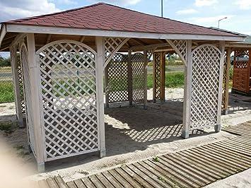 4 m x 4 m (EX 4, 5 m x 4, 5 m) Garten Holz Pavillon Pavillon Pergola ...