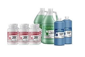 Shipper Value Pack (3-detergent, 2-chlorine, 2-rinse), Commercial Grade,