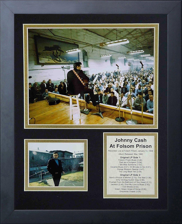 11x14-Inch Legends Never Die Johnny Cash at Folsom Prison Framed Photo Collage