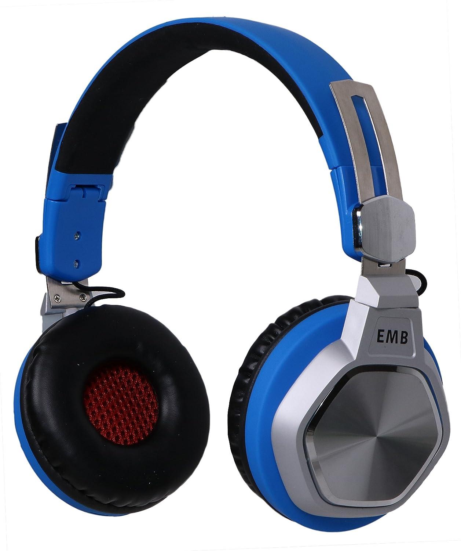 EMB ebh712-b Bluetoothヘッドホン、Hi - Fiステレオセット、折りたたみ式withソフトメモリProtein Earmuffs、のマイク内蔵ハンズフリー通話   B0791NF1ZC