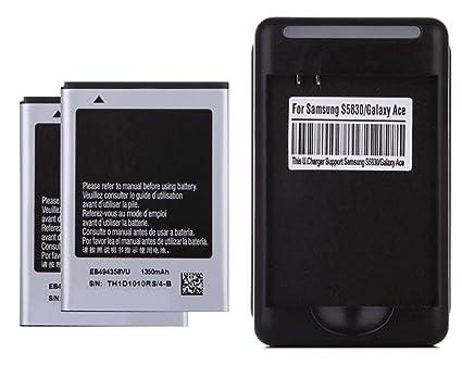 Amazon.com: 2 x 1350mAh Baterias de repuesto + Cargador de ...