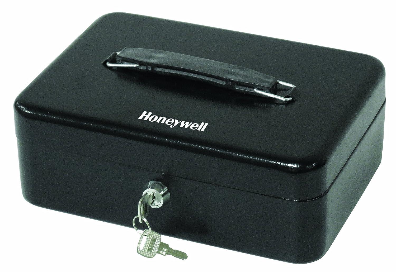 Honeywell Safes & Door Locks - 6112 Standard Steel Cash Box with Key Lock, Black