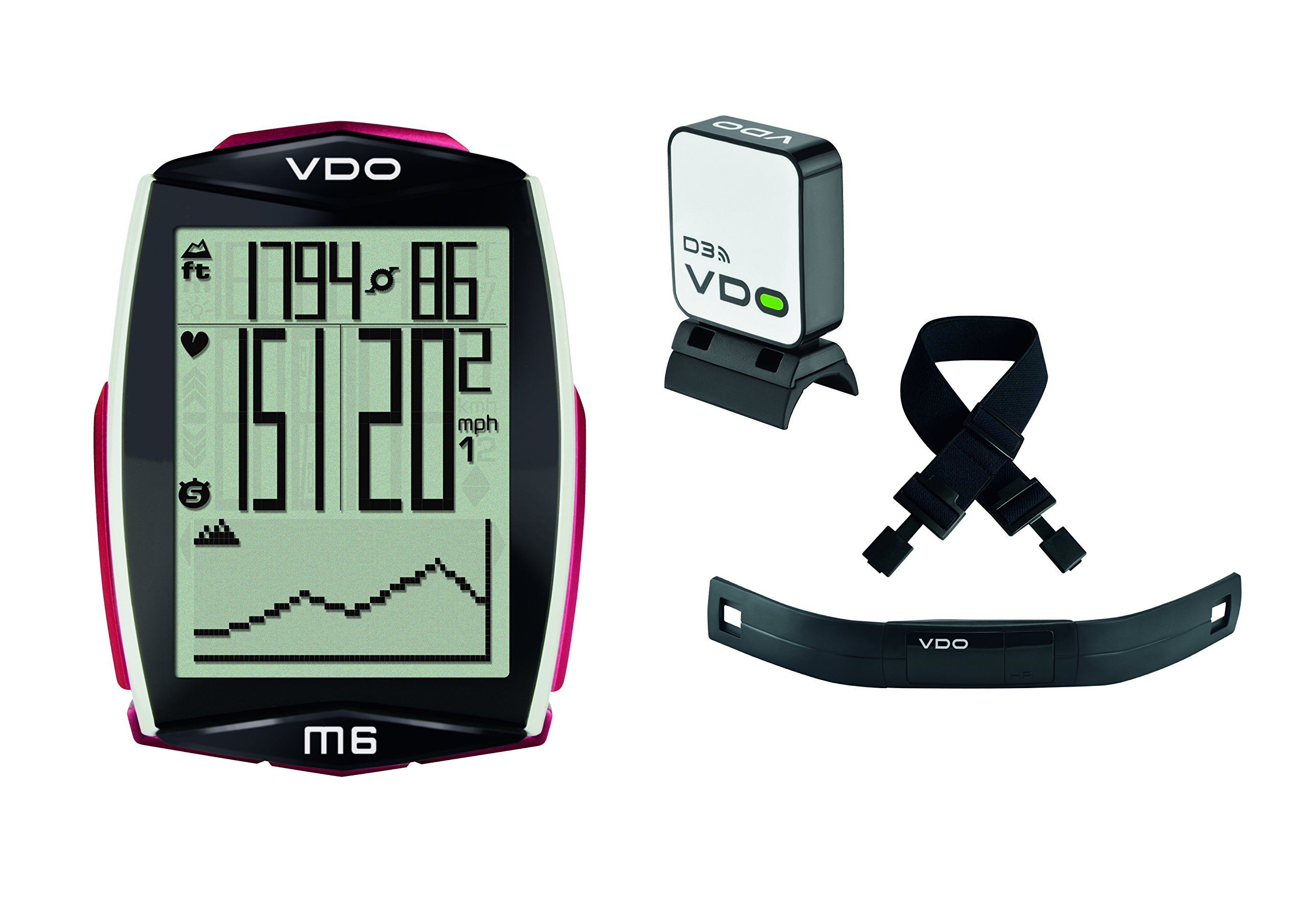 VDO M6 Bicycle Computer Digital Cycling Wireless with Heart Rate (Cadence Ready)