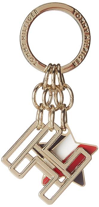 Aw0aw05310 Keyfob Charm Logo, Femmes Aimant, Gris (mélange Métallique), 0.2x4x9 Cm (bxhxt) Tommy Hilfiger