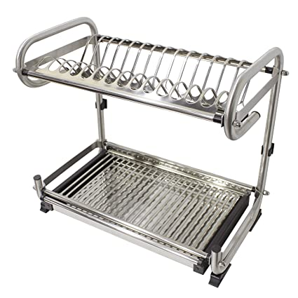 Probrico Wall Mounted Dish Drainer Rack Stainless Steel 23.6 inch Dish Drying Rack Plates Bowls Storage  sc 1 st  Amazon.com & Amazon.com: Probrico Wall Mounted Dish Drainer Rack Stainless Steel ...