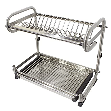 Probrico Wall Mounted Dish Drainer Rack Stainless Steel 19.6 inch Dish Drying Rack Plates Bowls Storage  sc 1 st  Amazon.com & Amazon.com: Probrico Wall Mounted Dish Drainer Rack Stainless Steel ...