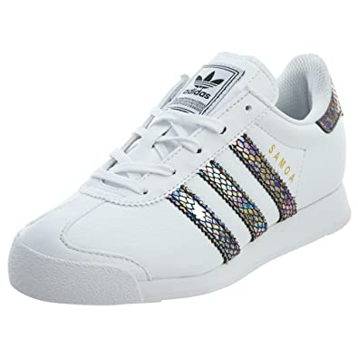 adidas Samoa C Snake Little Kid s Shoes White Black Noiess bw1299 (1 M 84381b23f