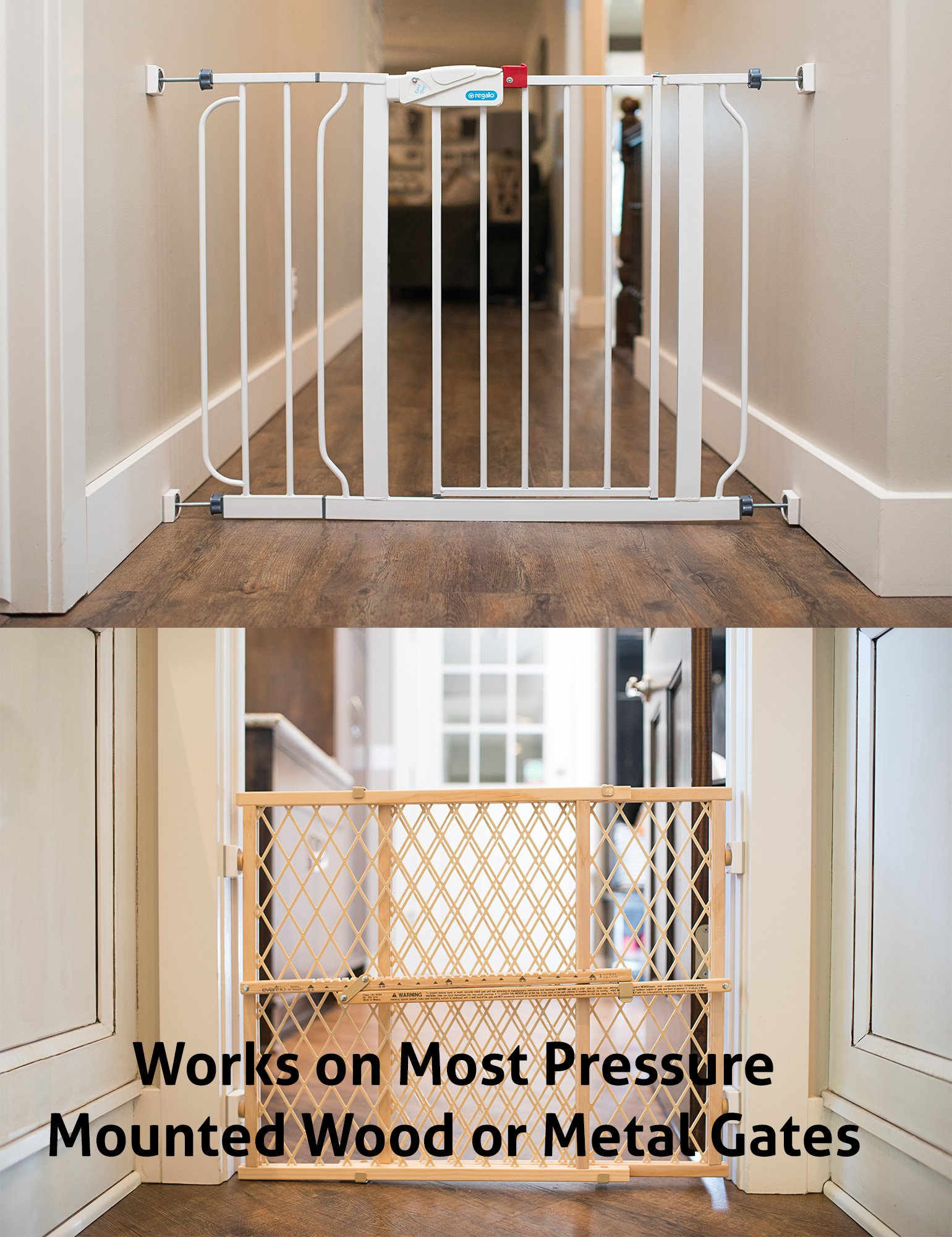 Wall Nanny Mini - Baby Gate Wall Protector (Made in USA) for Dog & Pet Gates - Small Low-Profile Saver - Perfect in Doorways - Cups Protect & Guard Walls from Kid Child Safety Pressure Gates - 4 Pack by Wall Nanny (Image #6)