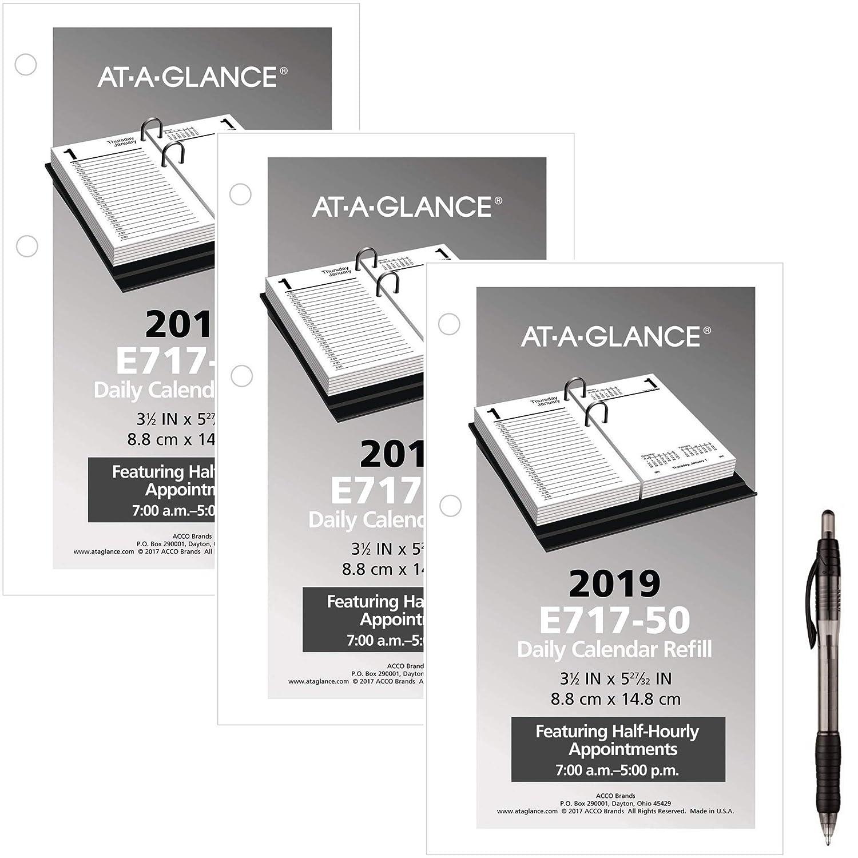 December 21 2019 Day Minder Printable Daily Calendar Amazon.: AT A GLANCE Daily Desk Calendar Refill, January 2019