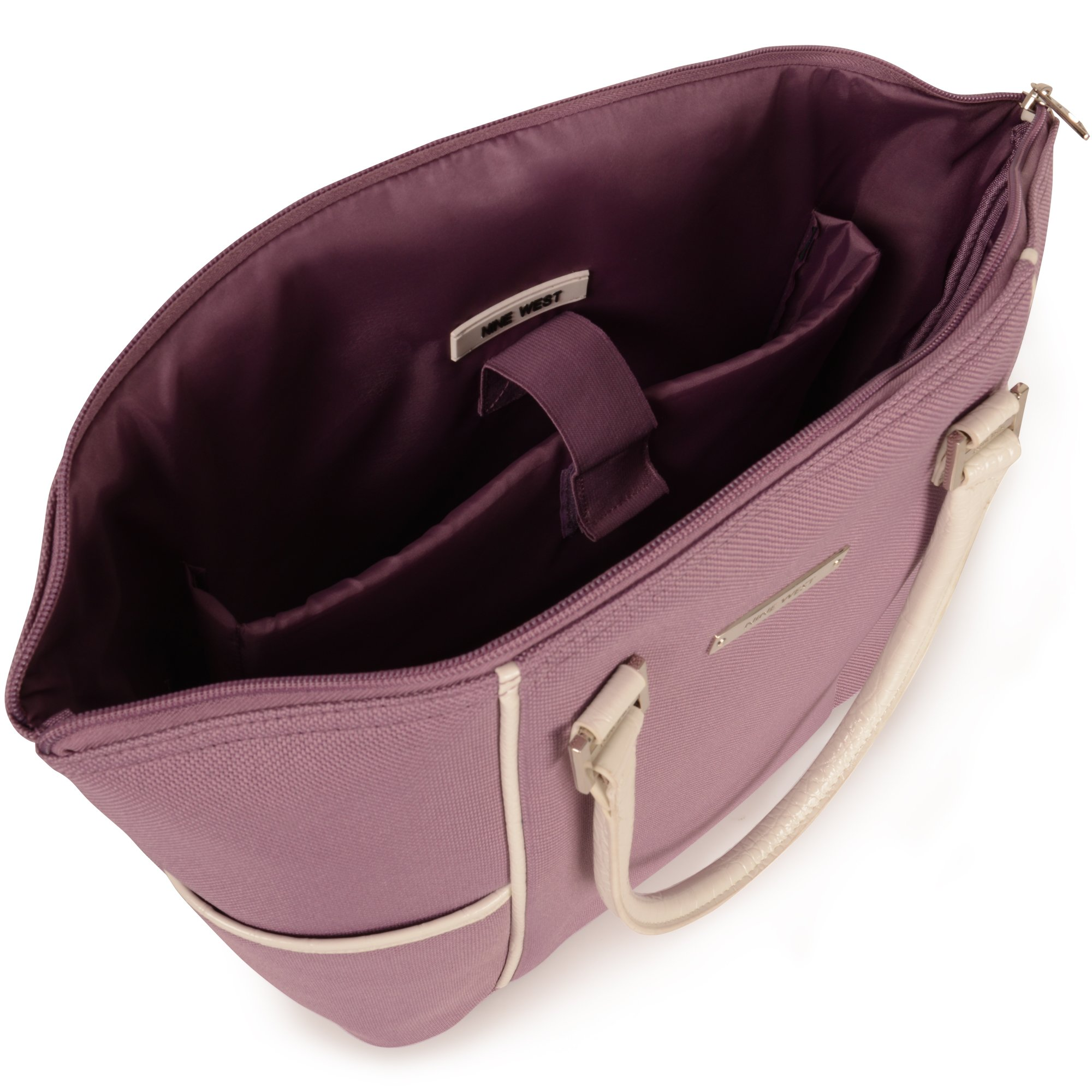 Ninewest Rendezvous 14 Inch Tote, Lilac/White, One Size