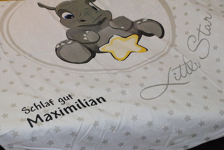 Bettwäsche Sets Babybettausstattung Bettwäsche Mit Namen Blau