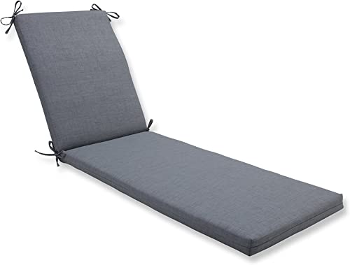 Pillow Perfect Outdoor/Indoor Rave Graphite Chaise Lounge Cushion 80x23x3