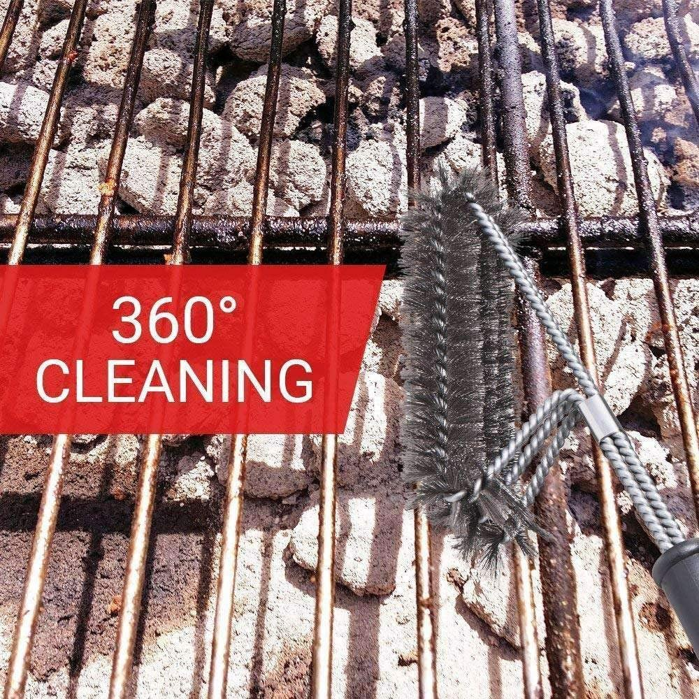 Kamenda Barbecue brush gas grill electric grill very suitable for barbecue 3 in 1 barbecue grill brush cleaning brush with stainless steel wire