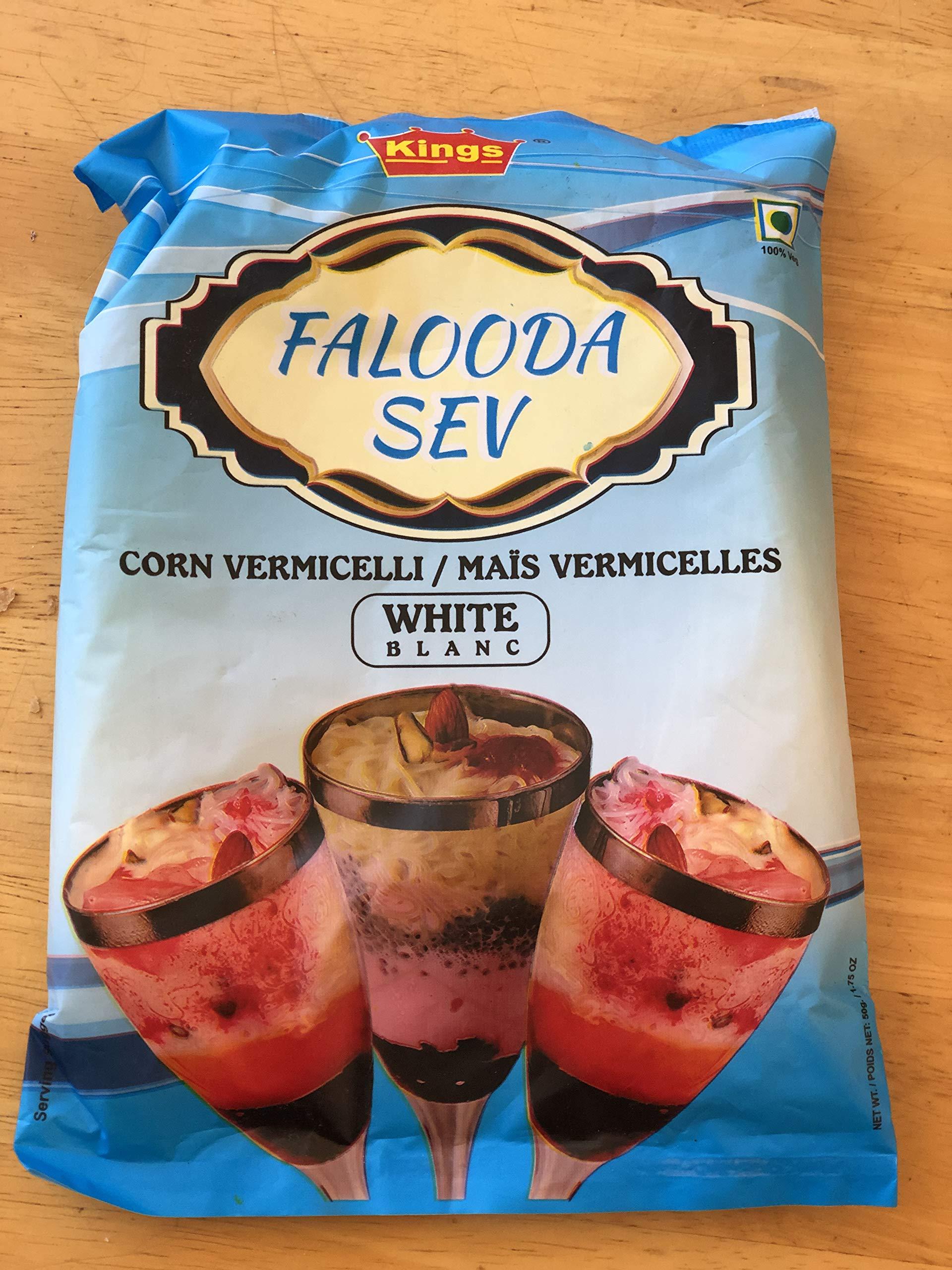 Kings Falooda Sev (Corn Vermicelli) - White - 50 Grams