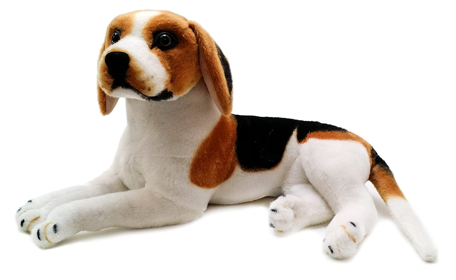 amazoncom brittany the beagle   inch large beagle dog stuffed  - amazoncom brittany the beagle   inch large beagle dog stuffed animalplush  by tiger tale toys toys  games