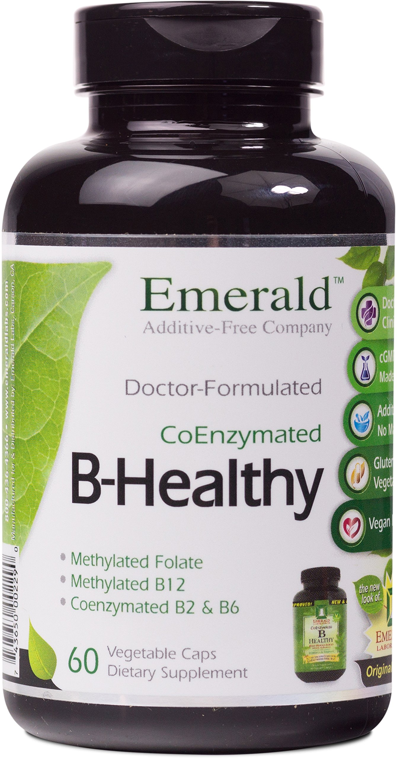 Emerald Laboratories - B Healthy - with L-5 Methyltetrahydrofolate Coenzymated Folic Acid - 60