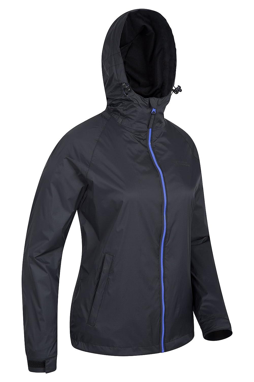 Mountain Warehouse Torrent 2 Damenjacke Verstellbarer Trenchcoat Leicht wasserfeste Regenjacke Jacke mit versiegelten N/ähten Ideal zum Reisen Fr/ühling