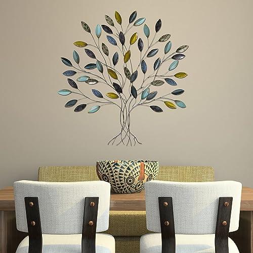 Stratton Home Decor SHD0128 Tree Wall Decor, 36.00 W X 1.75 D X 33.00 H, Multi