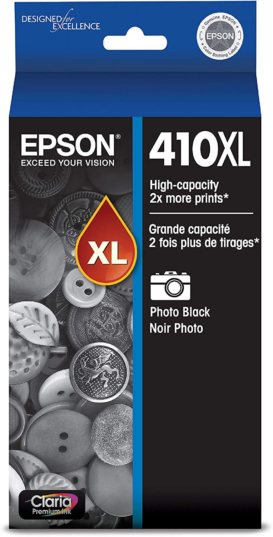 Epson 410XL Photo Black Ink Cartridge, High Capacity (T410XL120)